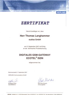 ETGA Facility Solution GmbH & Co.KG München GSM-Gateway
